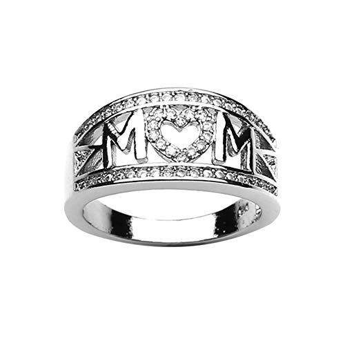 QQWA Stylish Women Ring Elegant Ring Decorated Gift for Mom Charm Ring Jewelry Accessory Gift Jewelry Wedding Party Birthday Gift,Style 10