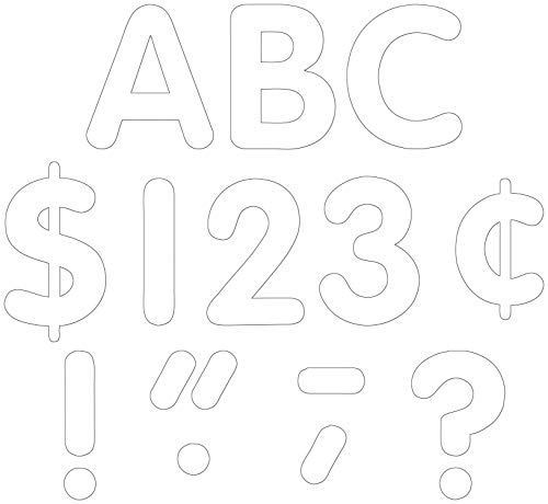 Teacher Created Resources White Classic Font 4-Inch Letters Uppercase Pack (5382)