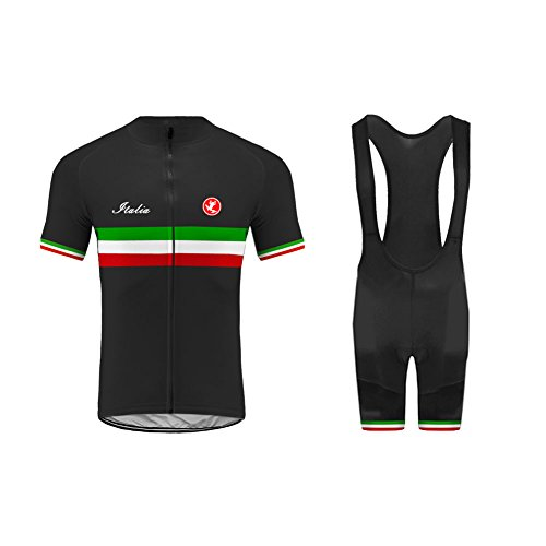 Uglyfrog Männer Team Radtrikot Anzug Italy Flag Designs Breathable Kurzarm Shirt + Enge Shorts Set für Rennrad Racing Outdoor Sports