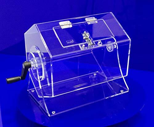 15 Liter Lostrommel mit Riegel OHNE Einwurfschlitz mit gratis-Feststellvorrichtung