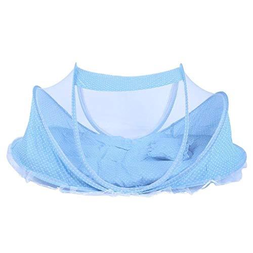 Love lamp Lits de Voyage Filet de lit de bébé Literie Pliant bébé moustiquaires lit Matelas Oreiller Costume for 0-2 Ans Enfants Filet Lit Parapluie Berceaux (Color : Blue)