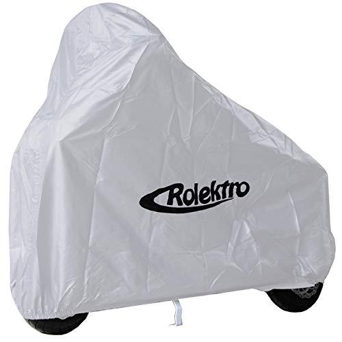 Rolektro Funda de lona para scooter eco Fun E-Joy 20 y scooter eléctrica plegable similar a construcción 130 x 70 x 130 cm (largo x ancho x alto) de poliéster 210T