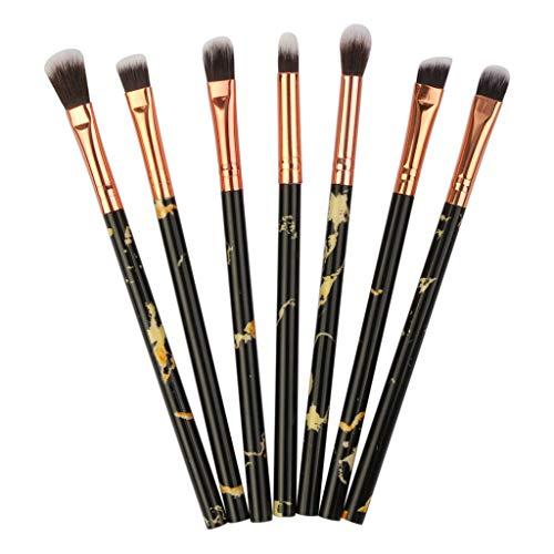 Hshing Complete Eye Set Pinceaux à Maquillage Sensation De Luxe Et De Mode Marbre Motif Lot De Pinceaux Pinceaux Maquillage(BK,7Pcs)