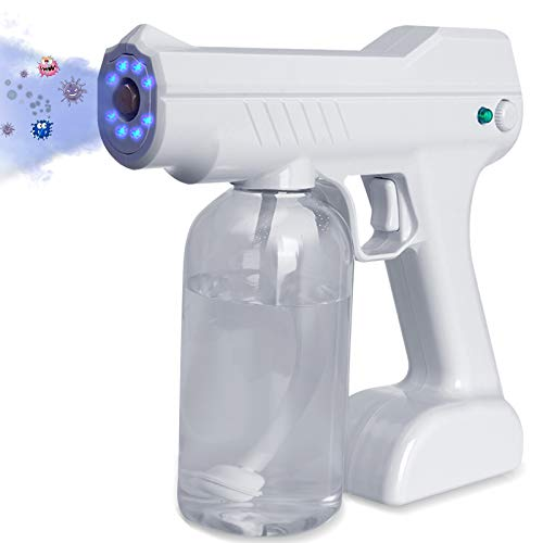 Beinhome Disinfectant Fogger Mist Gun, Handheld Rechargeable ULV Sprayer, 800ML Large Capacity Nozzle Adjustable Fogger for Home, Office, School or Garden