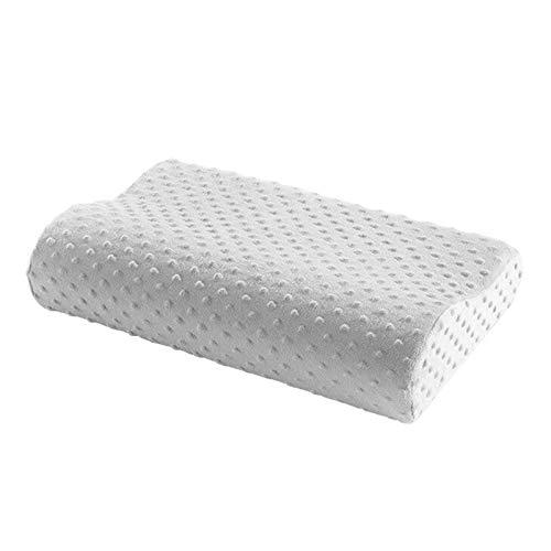 Orthopädisches Nackenkissen mit Memory Foam – Ergonomisches Kopfkissen mit Kissenbezug - Visco Nackenstützkissen für HWS (1 Kissen)