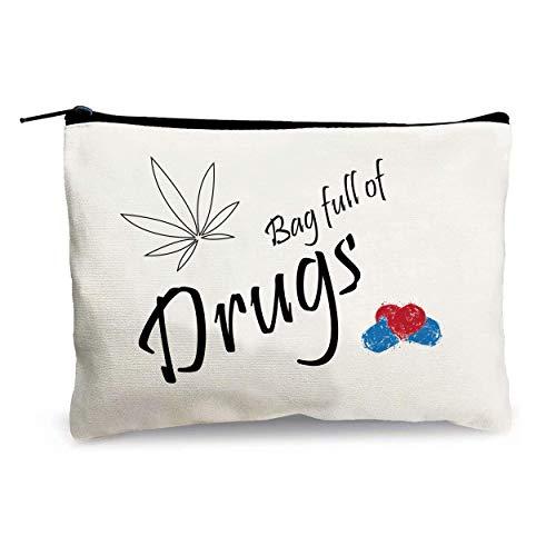 Crapopo Bag Full of D-Rug Coemetic Bag Fun Makeup Bag Gift for Women Girls Sisters Teens Gifts Birthday Present, Commemorative Gift,Retirement Gift