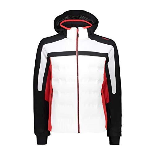 CMP Chaqueta de esquí para hombre con capucha y cremallera 39W2157 Bianco 58