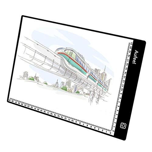LED-Lichtauflage Animation Tracking Light Box Zeichnung Kopierertisch Augenschutz Design A4 Touch Helligkeit einstellbar intelligente K/ünstler professionelle Karton Produktion Skizze Bildung