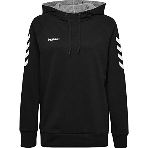 Hummel Damen Kapuzenpullover Go Cotton Hoodie Woman 203510 Black XXL