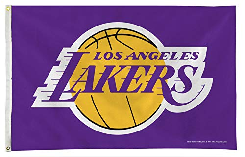 Rico Industries, Inc. Los Angeles Lakers Purple Premium 3x5 Flag w/Grommets Outdoor House Banner Basketball