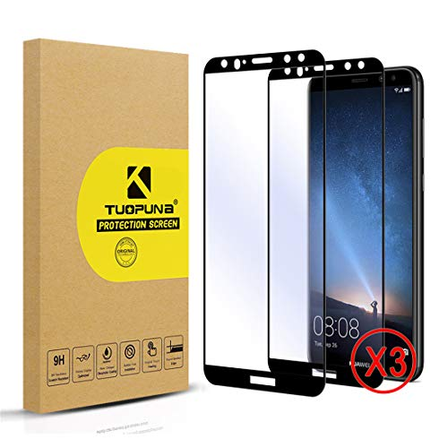 Tuopuna [3 Packs Compatible for Huawei Mate 10 Lite Schutzfolie, 9H Härte Ultra-klar Screen Protector, Keine Blasen panzerglas for Mate 10 Lite - Black