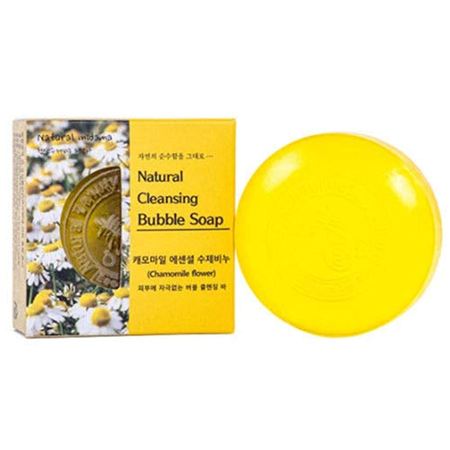 対実質的に実現可能天然 石鹸 ナチュラル バブル クレンジング バー/カモマイル ローズ ラベンダー せっけん Herb Oil Skin Soap 100g [並行輸入品] (カモマイル)