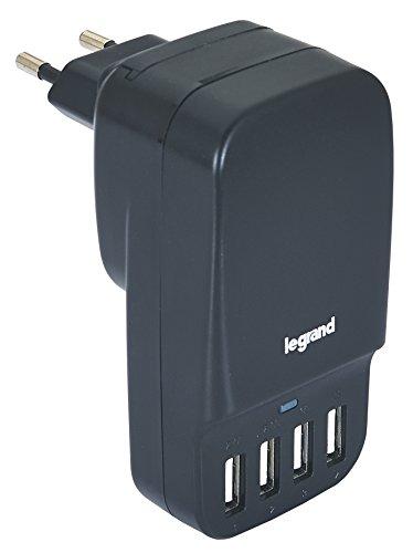 Legrand Adaptateur Prises De Voyage Universel Compact pour 150Pays (États-Unis, l'europe, Royaume-Uni, Australie, Nouvelle-Zélande) Adaptateur avec 4Ports USB
