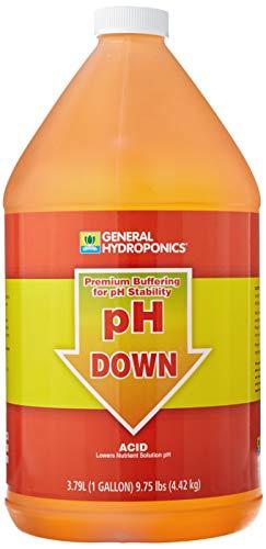 General Hydroponics HGC722125 pH Down Liquid Premium Buffering for Stability, 1-Gallon, Orange