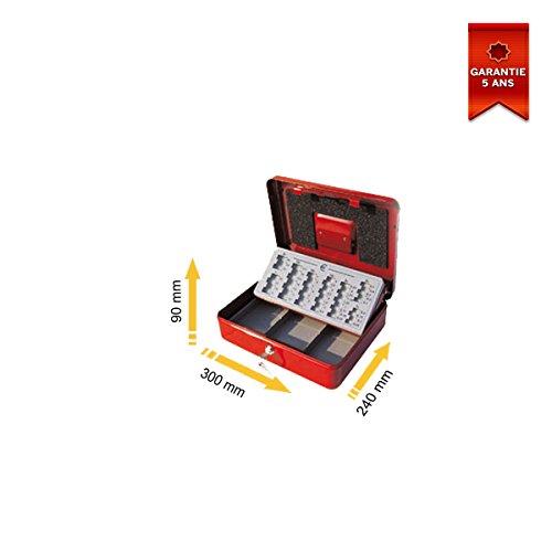 Stark PE01 - Cassetta portamonete, 300 x 90 x 240 mm, colore: Rosso