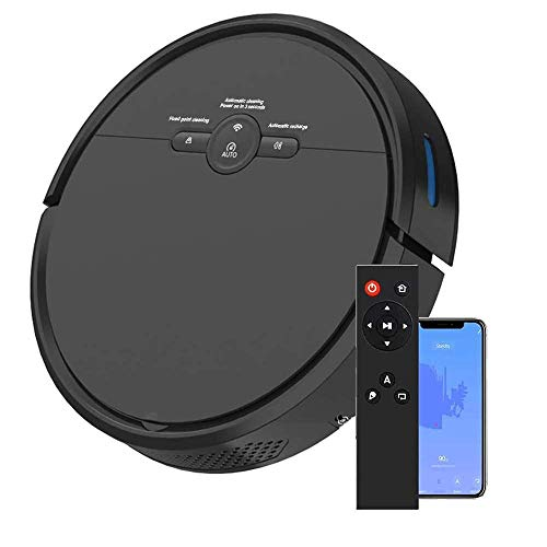 Robot Vacuum Cleaner and Sweeper,1800PA Strong Adsorption with Automatic Charging,Super Sound-Off,Robot Vacuum Cleaner is Suitable for Pet Hair,Ultra-Thin Body,Hard Floors and Low-Pile Carpets,Black LATT LIV