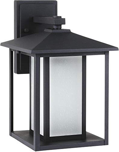Sea Gull Lighting Generation Lighting 8903197S-12 Transitional LED Outdoor Wall Sconce from Seagull - Hunnington Collection in Black Finish, Large