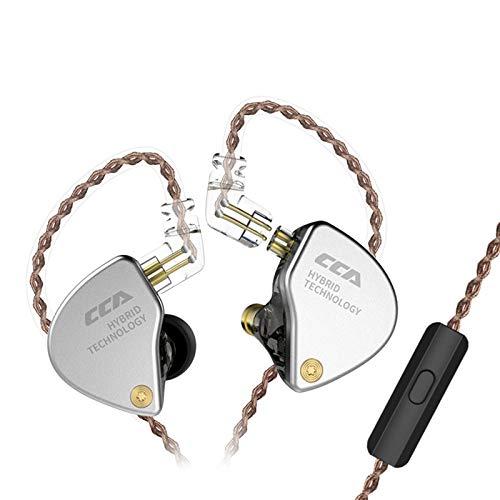 CCA CA4 Circle Iron-Kopfhörer 4 In-Ear-Stereo-Kopfhörer Mit Geräuschunterdrückung Kopfhörer Musik-Headset HiFi Subwoofer Esports Line Control-Kreis Iron Hybrid In-Ear-Kopfhörer