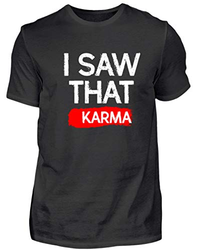 "Camiseta para hombre con texto en inglés ""I Saw That. Karma. - Das Habe Ich Gesehen. Karma. - Para personas espirituales, budistas Negro S"