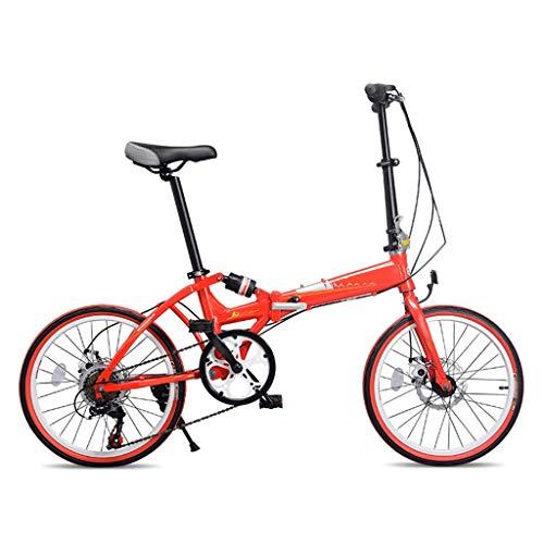 TYXTYX 20 Pulgadas Plegable De Aluminio Bicicleta De Paseo Mujer Bici Plegable...