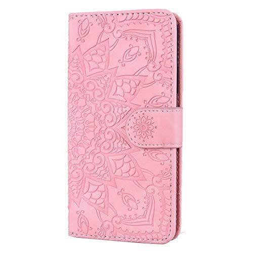 Snow Color Galaxy J4 2018 Hülle, Premium Leder Tasche Flip Wallet Case [Standfunktion] [Kartenfächern] PU-Leder Schutzhülle Brieftasche Handyhülle für Samsung Galaxy J4 - COHF010184 Rosa