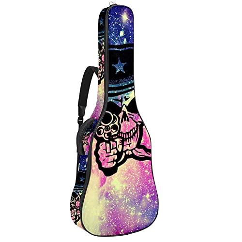 Calavera Cowboy, funda de guitarra eléctrica gruesa bolsa suave acolchado grueso con...