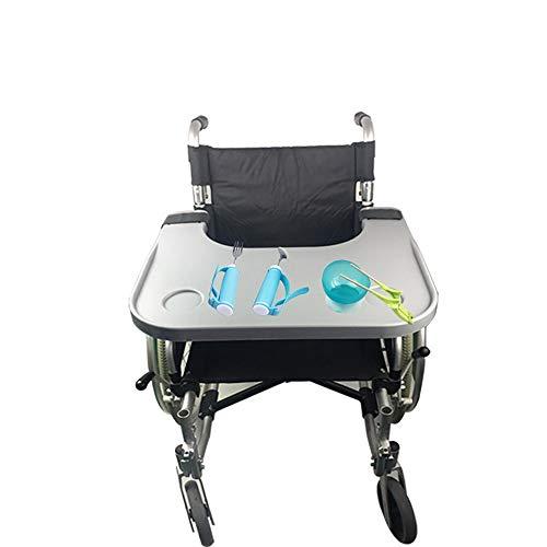 GuoYc Rollstuhl Tablett Rollstuhl Tisch Laptop Tablett Tisch mit Getränkehalter Kinderstuhl universal manuell Elektrorollstuhl Senioren