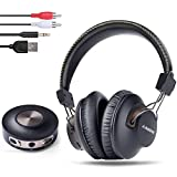 Avantree HT3189 Wireless Headphones for TV Watching w/Bluetooth Transmitter, Support RCA, AUX 3.5mm Audio Out, NOT for New TV with ONLY Digital/Optical Out, 40 Hrs Playtime, 100ft Range