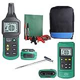 Rastreador de cable de alambre profesional portátil Detector de localizador de tuberías de metal Probador de línea Rastreador Voltaje 12~400V MS6818 - Verde y negro
