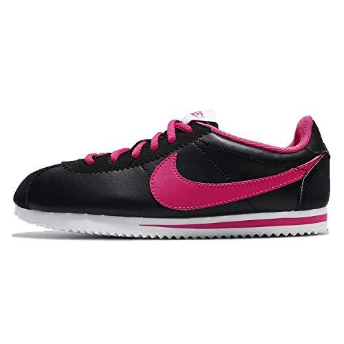 Nike Cortez - Zapatillas deportivas para niños, color negro y rosa