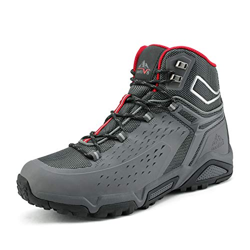 NORTIV 8 Men's Waterproof Hiking Boots Outdoor Mid Trekking Backpacking Mountaineering Shoes Grey...