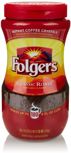 Folgers Classic Roast Instant Coffee Crystals 12 Ounces