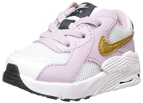 Nike Unisex-Kinder Air Max Excee Td Sneaker, Bianco/MTLC Gold/Ice Lilac/Off Noir, 32 EU