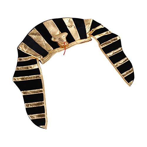 Balacoo Disfraz Del Faraón Sombrero Egipcio de Halloween Sombrero Del Partido Del Faraón Rey Cosplay Tocado de Halloween Vestido de Fiesta Temática Suministros