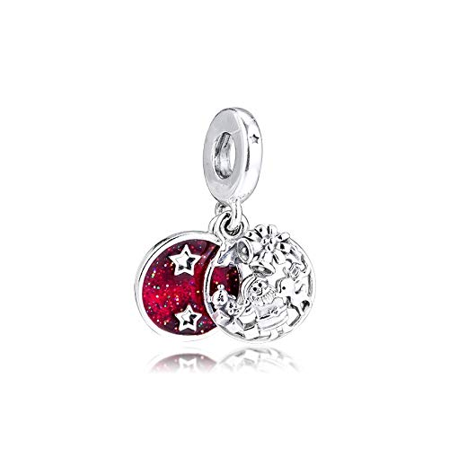 Diy Red Santa Love Peace Joy Dangle Winter Collection 925 Sterling Silver Charms For Bracelets Bangles Jewelry Making