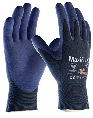 (12 Paar) ATG Handschuhe 34-274 Montagehandschuhe MaxiFlex Elite 12 x blau/blau 8 (M)