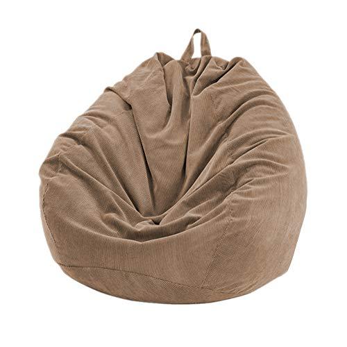Sitzsack für faule Sofas aus weichem Cord (ohne Füllstoff), große Liege, hohe Rückenlehne, für Erwachsene und Kinder