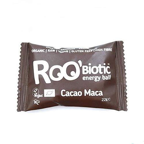 ROOBiotic Energy Ball Kakao + Maca (bio, roh, vegan) probiotische Rohkost-Kugel