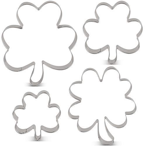 4 leaf clover cookie cutter - 8