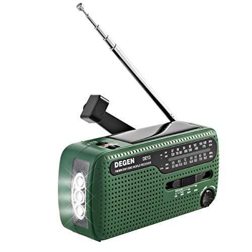 HaiQianXin Manivela Manual Radio de...