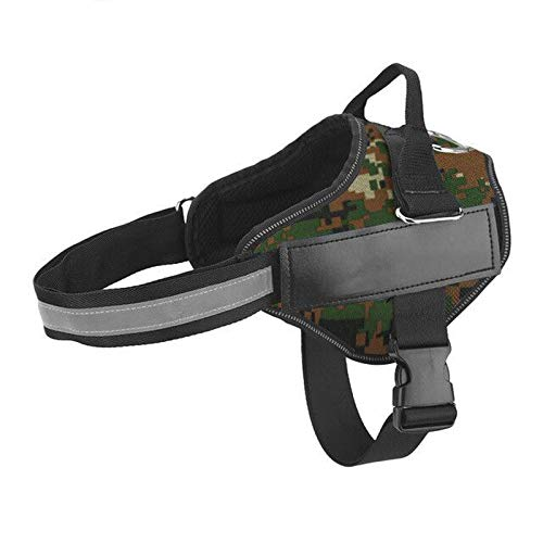 Dog Harness NO PULL Reflective Breathable Adjustable Pet Harness For Dog Vest ID Custom Patch Outdoor Walking Dog Supplies-Camouflage-XS