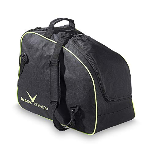 Black Crevice ski Boot and Helmet Bag, Black/Yellow