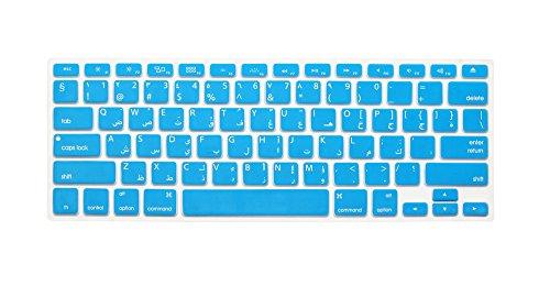 Big Font Series - Carcasa de Silicona para Teclado MacBook Pro 13' 15' 17' (sin Pantalla Retina) MacBook Air 13' iMac (Solo para Teclado de EE. UU.) Arabic Blue