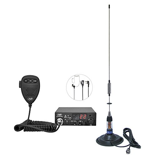 PNI CB-Funk-Kit CB Escort HP 8001L ASQ + CB-Antenne ML70, Zigarettenanzünderstecker und Kopfhörer HS81L im Lieferumfang enthalten