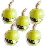 LABOTE Handgemachte thailändische Bio Naturseife Apfel Grün mit typischem Duft, 5 Stück