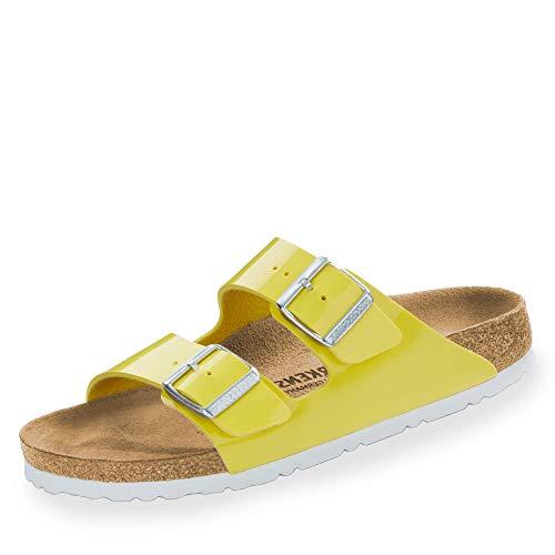 BIRKENSTOCK Damen Sandale Arizona Birko-Flor Lack schmal