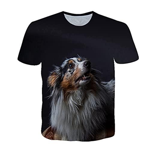 LPFNSF Camiseta 3D con diseño de perro y camiseta para hombre, regalo para el día del padre, regalo para papá (10, S)