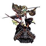 One Piece Figure, Roronoa Zoro Action Figure, Wano Kuni Figure, Wano Kuni Figure, Anime Heroes Figura di Azione, Regalo di Compleanno per Bambini di Natale - 35 cm