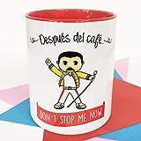 La mente es Maravillosa - Taza con Frase y Dibujo. Regalo Original y Gracioso (Después del café. Don´t Stop me Now) Taza...