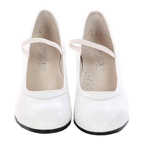 Dimichi Flamenco Schuhe für die Damen 3 F UK Weiß